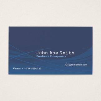Cartão De Visitas Abstrato do azul