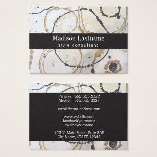 Cartão De Visitas Abstrato elegante do ouro e do preto