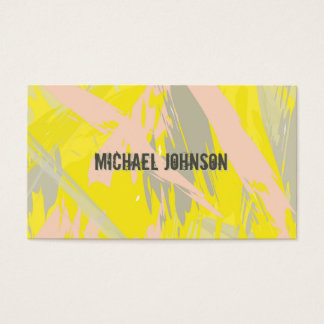 Cartão De Visitas Abstrato moderno do amarelo do verão
