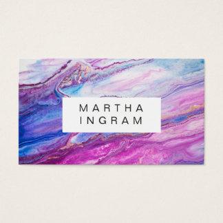 Cartão De Visitas Abstrato roxo da galáxia do design criativo