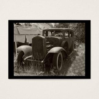 Cartão De Visitas ACEO- mini impressão do Carro oxidado realmente