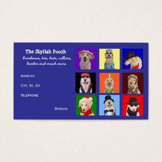 Cartão De Visitas Acessórios customizáveis do cão