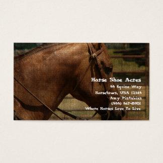 Cartão De Visitas Acres dos calçados do cavalo ocidentais