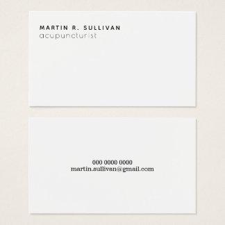 Cartão De Visitas acupuncturist (ou algum outro prof.) b/w