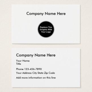 Cartão De Visitas Adicione seu modelo do logotipo do negócio