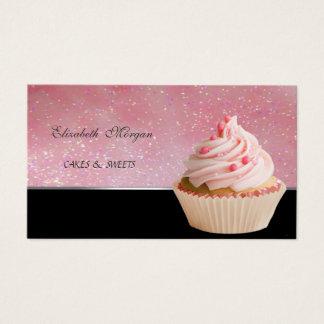 Cartão De Visitas Adorável bonito, padaria do cupcake