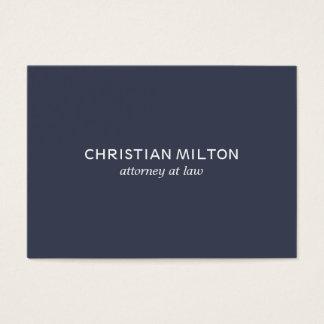 Cartão De Visitas Advogado branco azul elegante simples mínimo na