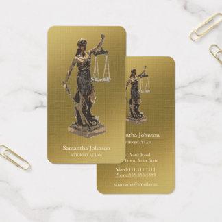 Cartão De Visitas Advogado de Themis | no ouro da lei