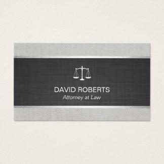 Cartão De Visitas Advogado do advogado no linho preto da lei &