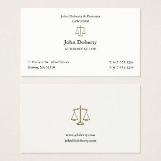 Cartão De Visitas Advogado elegante no advogado da lei |