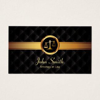 Cartão De Visitas Advogado escuro luxuoso da listra do ouro do