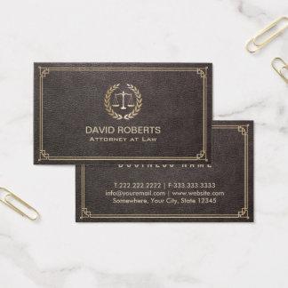 Cartão De Visitas Advogado no advogado de couro elegante da escala
