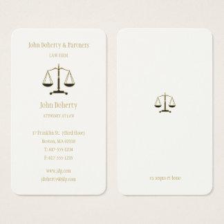Cartão De Visitas Advogado no ouro elegante da lei |