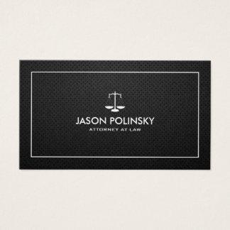Cartão De Visitas Advogado preto & de prata profissional & moderno