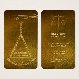 Cartão De Visitas Advogado profissional no ouro da lei |