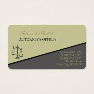 Cartão De Visitas Advogados inclinados na moda modernos do advogado