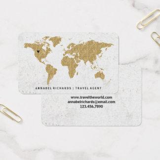 Cartão De Visitas Agência de viagens chique ou Blogger do mapa do