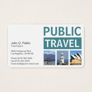 Cartão De Visitas Agência de viagens da fotografia