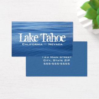 Cartão De Visitas Água azul de Lake Tahoe