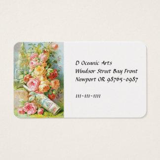 Cartão De Visitas Água de Colônia da água de Florida com rosas da
