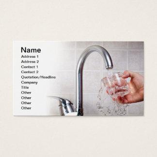 Cartão De Visitas Água potável