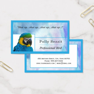 Cartão De Visitas Aguarela azul as bordas aninhadas Freelance modelo