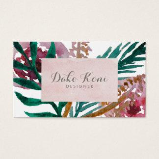 Cartão De Visitas Aguarela floral