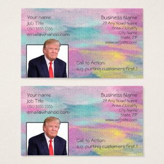 Cartão De Visitas Aguarela genérica 2 do rosa do amarelo do retrato