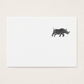 Cartão De Visitas Aguarela Running da silhueta do rinoceronte