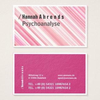 Cartão De Visitas Aguarelas elegantes