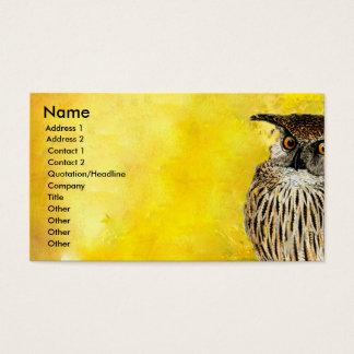 Cartão De Visitas Aguarelas profissionais do design | do pássaro da