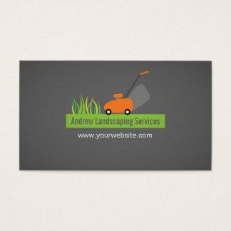 Cartão De Visitas Ajardinando serviços, cortador de relva