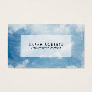 Cartão De Visitas Ajudante administrativo elegante do céu azul