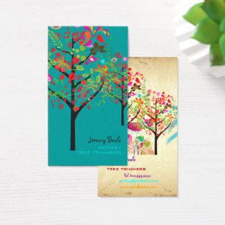 Cartão De Visitas AJUSTADOR RETRO ♥♥♥/DIY da ÁRVORE do VINTAGE de