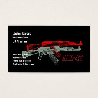 CARTÃO DE VISITAS AK 47