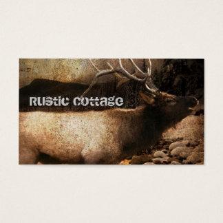 Cartão De Visitas Alces rústicos do touro da montanha da floresta da