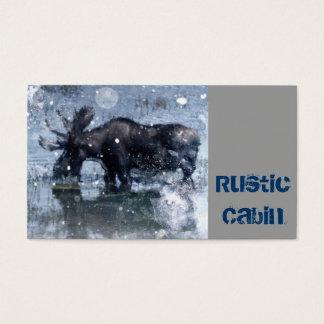 Cartão De Visitas Alces rústicos do touro dos animais selvagens da