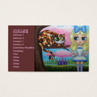 Cartão De Visitas Alice e o gato de Cheshire