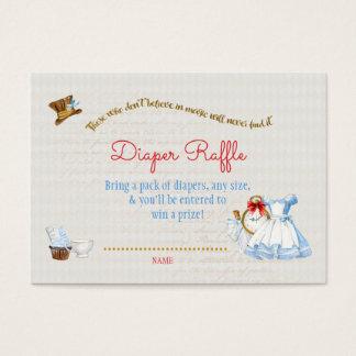Cartão De Visitas Alice no obrigado do Raffle da fralda do país das