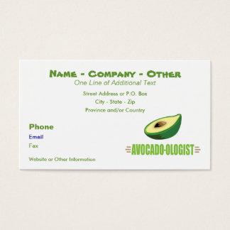 Cartão De Visitas Amante engraçado do abacate
