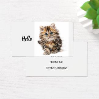 Cartão De Visitas Amantes dos animais do animal de estimação do gato