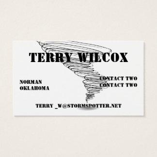 Cartão De Visitas Amarelo do perigo do observador da tempestade com