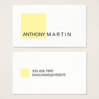 Cartão De Visitas Amarelo quadrado