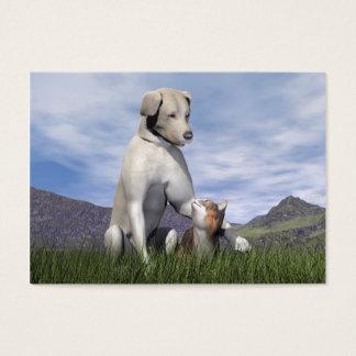 Cartão De Visitas Amizade do cão e gato