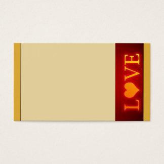 Cartão De Visitas Amor