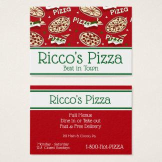 Cartão De Visitas Amor da pizza