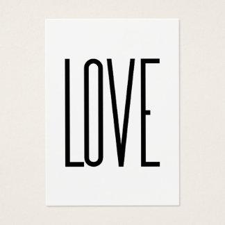 Cartão De Visitas Amor - design minimalista