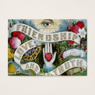 Cartão De Visitas amor e verdade da amizade