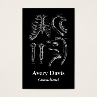 Cartão De Visitas Anatomia velha que tira o esterno e os reforços