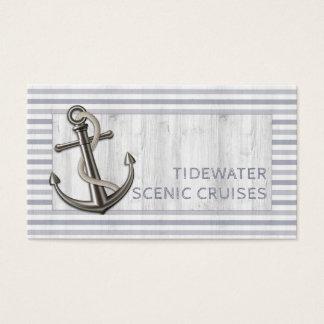 Cartão De Visitas Âncora náutica w/Rope